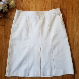 Theory A-line Skirt Ivory 12